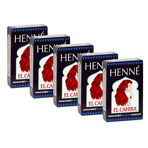 Henné Lot de 5 balles en acajou Rouge (5 x 90g)