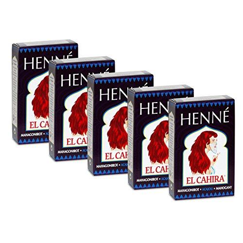 Henné Acajou Rouge Lot de 5