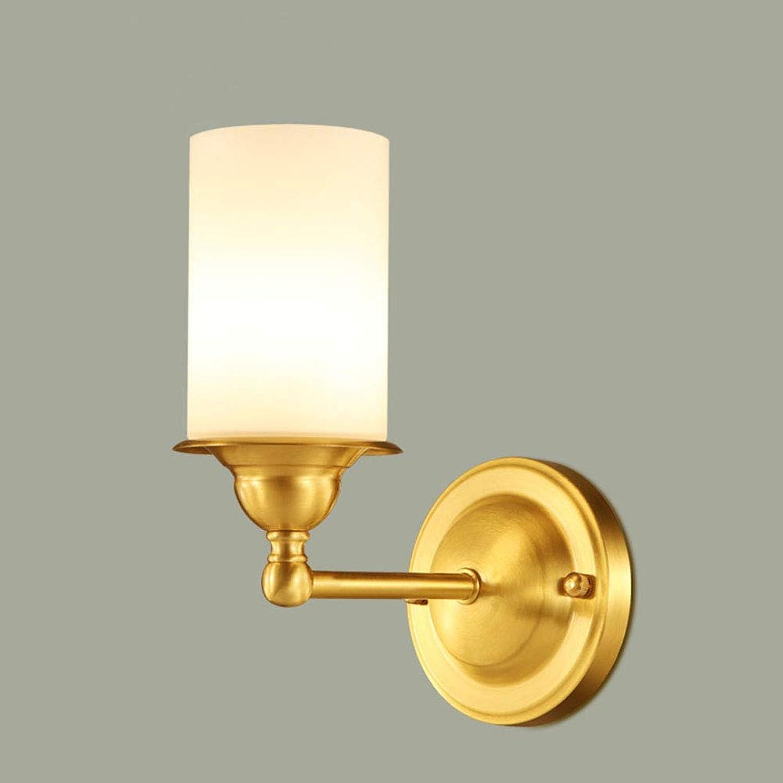 Chenyaohaiyu Wandleuchte Alle Bronze Wandleuchte LED Einfache Wohnzimmer Dekorative Lichter Balkon Licht Gehweg Licht Schlafzimmer Nachttischlampe Runde Treppenlicht