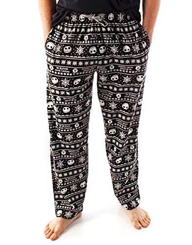 Disney Nightmare Before Christmas Lounge Hosen Jack Skellington Herren Pyjama Bottoms