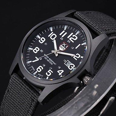 XKC-watches Herrenuhren, Stunden Digital-Uhr-Uhren Para Hombre Herren-Uhr Quarz relogio Masculino Militärsport Männer Casual Armbanduhren (Farbe : Schwarz)