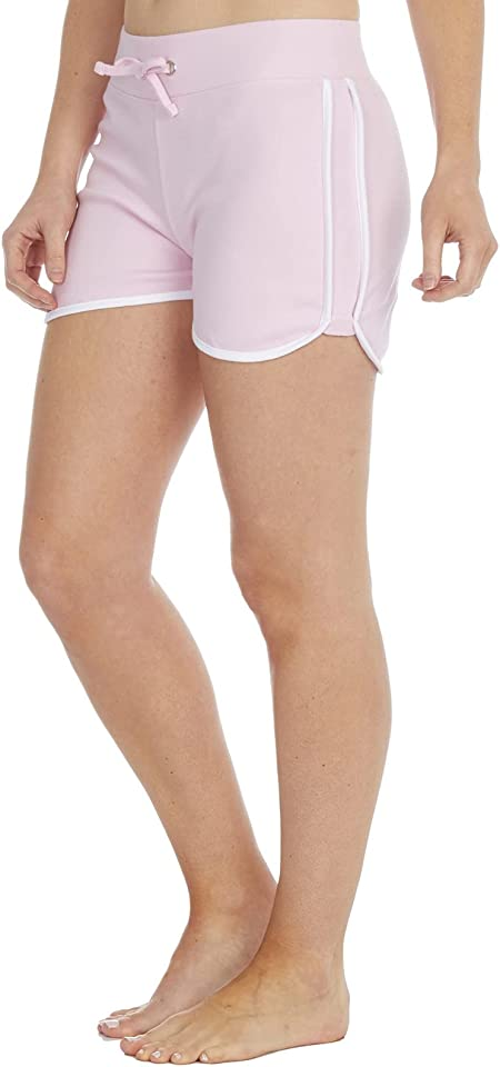 Gimbles® New Women's Ladies Jersey Plain Side Stripe Tennis Running Shorts UK Sizes 6-18