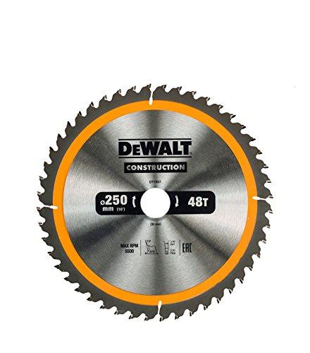 Dewalt DT1957QZ Hoja para sierra circular estacionaria 250 x 30 mm 24D ATB 10 0 V Amarillo talla única