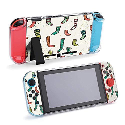 Diferentes calcetines de Doodle Dibujado a mano compatibles con consola Nintendo Switch y funda protectora Joy-Con, duradera, flexible, absorción de golpes, antiarañazos, protección contra caídas
