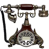 Living Equipment Retro Phone Antique Resin Metal Landline Vintage Button Fixed Telephone Office Home Decoration Ornaments