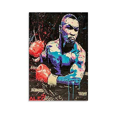 NVHAI Póster de Mike Tyson de peso pesado, diseño de boxeador de Mike Tyson, 40 x 60 cm