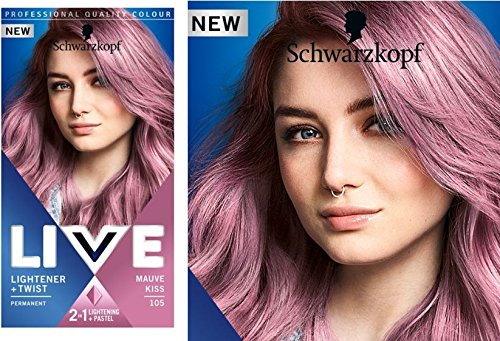 Schwarzkopf Live Permanent Aufheller + Twist, 105Mauve Kiss