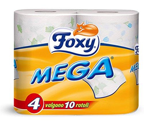 Foxy 10 Confezioni da 4 Rotoli Carta IGIENICA Mega 40 Rotoli Bagno