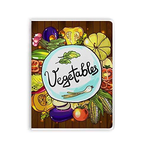 Notizbuch, Gemüse, Mais, rötlicher chinesischer Kohl, Gummi-Einband, Tagebuch mit...