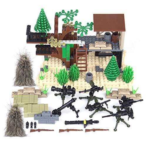 Mecotecn Juguete Militar Kit con Custom Armas y Juego del Ghillie para Figuras de Soldados y Mini Figuras, Compatible con Lego