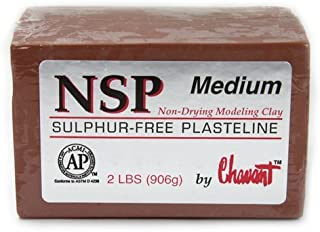 Chavant Clay - NSP Medium Brown - Sculpting and Modeling Clay (1/4 Case)