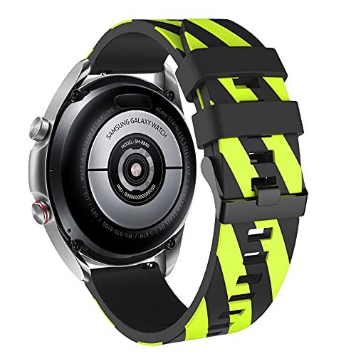 Vozehui Correa compatible con Samsung Gear S3 Frontier/Gear S3 Classic/Galaxy Watch 45 mm 46 mm/Huami amazfit 2/Huawei Watch GT/Huawei Honor 22 mm silicona suave deporte correa,