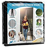 Flux Phenom Magnetic Screen Door - Retractable Mesh with Self Sealing Magnets - Keeps Nature Out