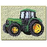 Kits De Gancho De Pestillo Patrón De Tractor Impreso Lienzo DIY...