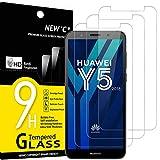 NEW'C 3 Unidades, Protector de Pantalla para Huawei Y5 2018, Honor 7S, Antiarañazos, Antihuellas, Sin Burbujas, Dureza 9H, 0.33 mm Ultra Transparente, Vidrio Templado Ultra Resistente