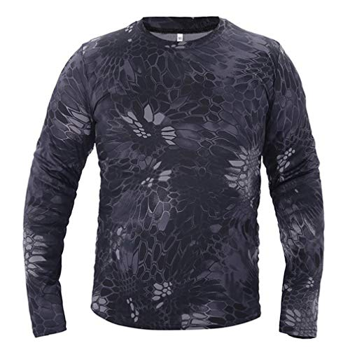 Camiseta táctica de camuflaje de manga larga para hombre, de secado rápido,...