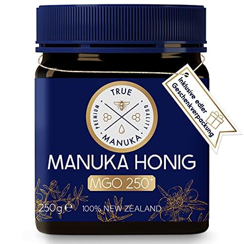 True Manuka - Manuka Honig MGO 250+ - 250g - 100% Pur aus Neuseeland - Mit zertifiziertem Methylglyoxal Gehalt