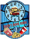 Redeye Laserworks Movie Room/Theater Room Wall Clock - Personalized from