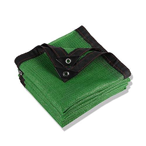 WXQIANG Verde paño de la Cortina Bloqueador Solar con Ojales 80% UV for la Cubierta de la Planta del Granero de la Perrera Piscina pérgola o Piscina Protección Solar, Aislamiento térmico.