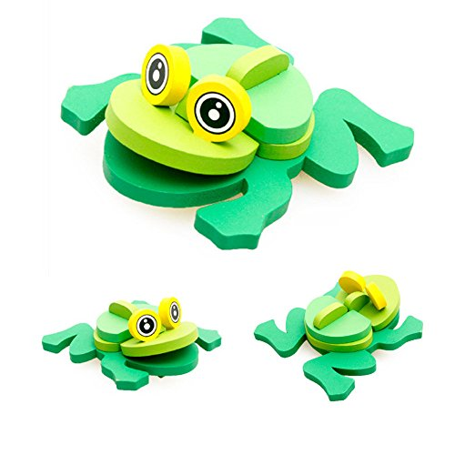 Montessori Toys for Toddlers Wood,Mini 3D Blocks Animals Jigsaw Puzzle Sorting and Stacking Educational Game Tigiveme