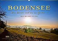 """Bodensee - """"Die Doerfer sind wie ein Garten ..."""" (Rainer Maria Rilke) (Wandkalender 2022 DIN A2 quer): Eine der schoensten Urlaubsregionen, die Bodensee-Region. (Monatskalender, 14 Seiten )"""