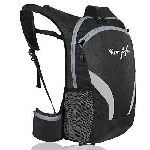 WESTGIRL Fahrradrucksack, Radfahren Rucksack 15L Wasserdicht, Fahrrad Rucksäcke Tagesrucksack Reflektierend atmungsaktiv, Sportrucksack mit Helmtasche für Herren Damen