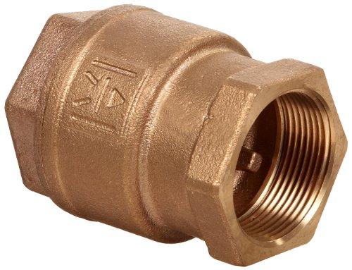 Milwaukee Valve UP548T Series Bronze Spring Check Valve, Potable Water Service, 1