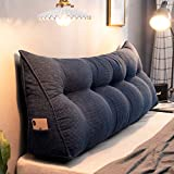 Triangular Headboard Pillow, 39' Triangle Cushion Reading Pillow Large Bolster Backrest Positioning Support Wedge Pillow for Daybed Bed with Removable Cover