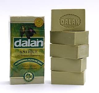 10 PIECES DALAN ANTIQUE PIRINA SOAP 100 % NATURAL FROM 100 % MEDITERRANEAN OLIVE OIL (10 BAR X 180G = 1800GR)