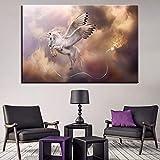 KWzEQ Leinwanddrucke Pegasus Poster Bilder dekorativ für