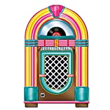 Beistle Jukebox Cut Out 50's Rock and Roll Music Party Decorations Wall Décor Sign for 1950's Theme Photo Booth Prop Background Backdrop