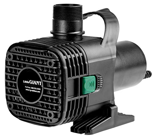 Little Giant F30-4000 566726 Wet Rotor Pump with 20-Feet Cord, 4000GPH