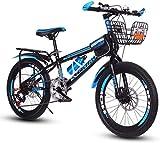 Bicicletas niños, Bicicletas de montaña, Bicicletas de Estudiantes, Hard Tail Bicicleta, 18/20/22 Pulgadas, Velocidad Variable Bicicleta, Frenos de Disco de Bicicletas 7-2,22 Pulgadas SHIYUE