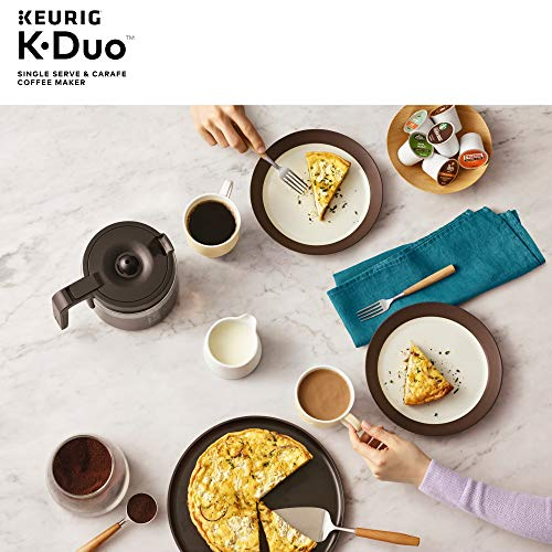 K-Duo Coffee Maker with single serve and large carafe