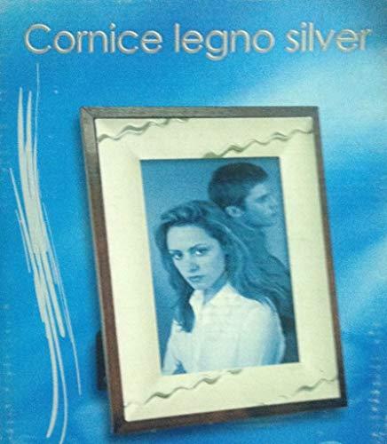 DUE ESSE DISTRIBUZIONI SRL Cornice Portafoto in Legno Silver 10 x 15 cm