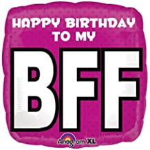 Happy Birthday to My BFF Square 18 Mylar Balloon by Anagram by Anagram
