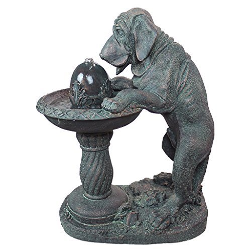 Water Fountain - Dog's Refreshing Drink Garden Decor Dog Fountain - Outdoor Water Feature