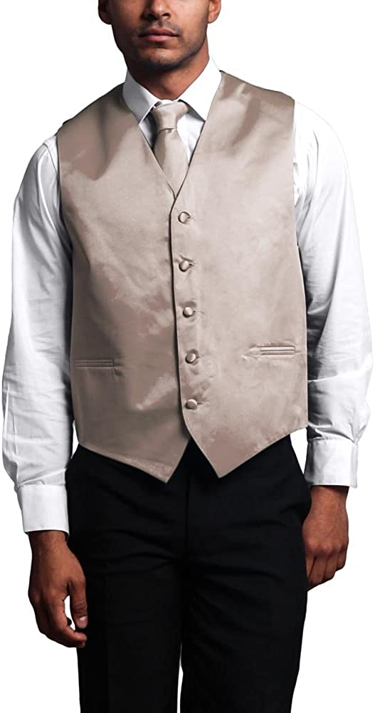 G-Style USA Men's 3-Piece Formal Vest Set for Tuxedo and Suit