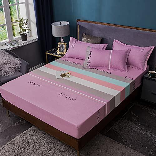 Haiba - Lenzuola anallergiche senza grinze per letto da hotel, extra morbide, con tasche profonde e federe 150 x 200 + 20