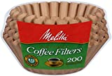 Melitta Basket Coffee Filter, (200 Count), (Pack of 1), Brown for 8-12 Cup