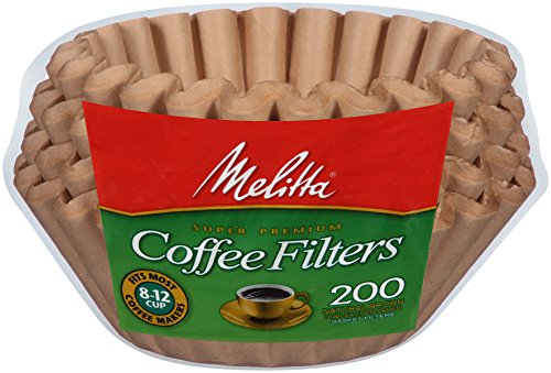 Melitta Cup Basket Coffee Filter, Brown Count Kaffeefilter, 200 Stück, Papier, Braun für 8-12 Tassen, (Pack of 1)