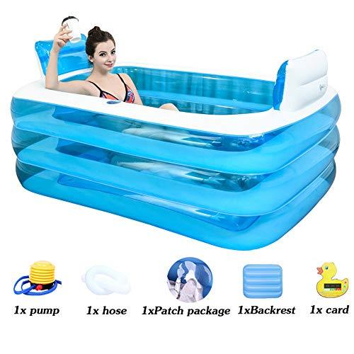 FuAo Bathtub Gruesa Bañera Inflable, Bañera De PVC para Adultos, Bañera De Plástico Plegable, Jacuzzi Hinchable, Bañera...