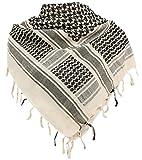 Military Shemagh Tactical Desert 100% Cotton Keffiyeh Scarf Wrap,B-khaki