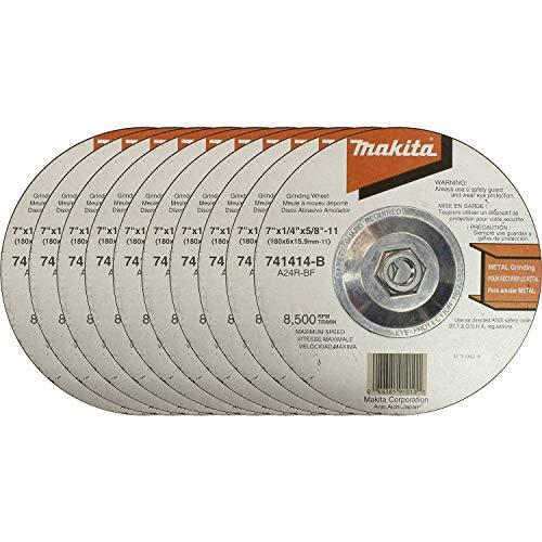 Makita 741414-B-10 Hubbed Grinding Wheel, 10-Pack, 7-Inch
