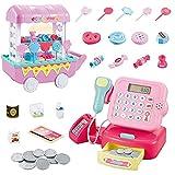 Caja registradora para niños, juguetes de tienda de supermercado de juegos de simulación, juguetes educativos de caja registradora para juegos de simulación, juegos de rol, grandes regalos para niños