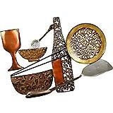Tableau Decoration Murale Vintage Vaisselle, couvert En Métal Emaillee, Cadre Original Plaque Decorative Metallique Moderne Et Design Pour La Deco De Votre Cuisine,panneau 3D-L 52xP 4 XH 37 Cm