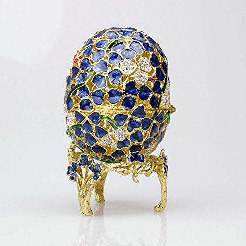 WEM Lámparas de la novedad, joyero festivo del regalo del huevo de la flor del metal/joyero/regalo de boda,Verde