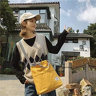 Fashion Single-Shoulder Bags Leisure Fashion Canvas Slant Shoulder Handbag(Black) (Color : Yellow)