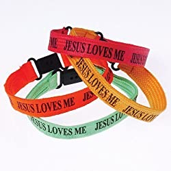 Jesus Loves Me Bracelets - make great incentives or prizes for Sunday School or Children's Ministry