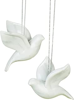 2 Piece Friendship Dove Christmas Ornaments in Gift Box